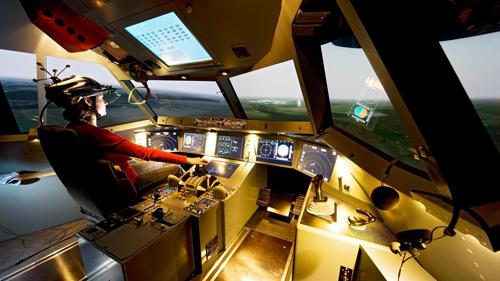 Das Generic Experimental Cockpit (GECO). Image credit: DLR