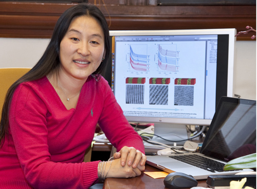 Ting Xu holds joint appointments with Berkeley Lab's Materials Sciences Division and UC Berkeley's Departments of Materials Sciences and Engineering, and Chemistry. (Photo by Roy Kaltschmidt)