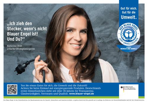 """Katarina Witt ist Umweltbotschafter für den """"Blauen Engel"""", weil er das Klima schützt. Photo credit: Jim Rakete"""