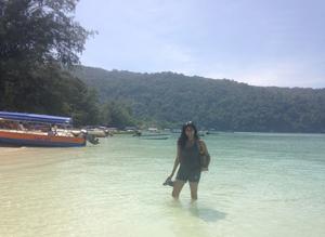 During her summer researching prisoners' attitudes toward drug treatment in Malaysia, Aishwarya Vijay '14 visited one of the favorite destinations of Malay locals — the Perhentian Islands. Image credit: Yale University