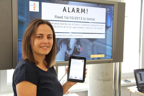 """""""Alert4All"""" ist als sicheres Webportal für registrierte Nutzer angelegt. Behörden, Sicherheitsverantwortliche oder Einsatzkräfte können den aktuellen Informationsstand zur Alarmierungslage in Krisenfällen in ganz Europa abrufen. Photo credit: DLR"""