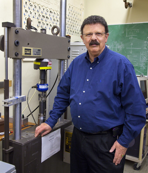 Robert Ritchie, a senior faculty scientist with Berkeley Lab and UC Berkeley, is a recognized authority on the mechanical behavior of materials. (Photo by Roy Kaltschmidt)