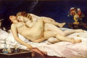 """Bärbel S.: """"...und wir finden uns...im Dunkel der Nacht...unsere Lippen berühren sich sanft..."""" (Image source: Commons.Wikipedia)"""