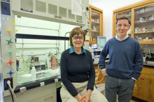 Berkeley Lab researchers Lara Gundel and Hugo Destaillats found that thirdhand smoke continues to be harmful for hours after a cigarette has been extinguished. Image credit: Berkeley Lab