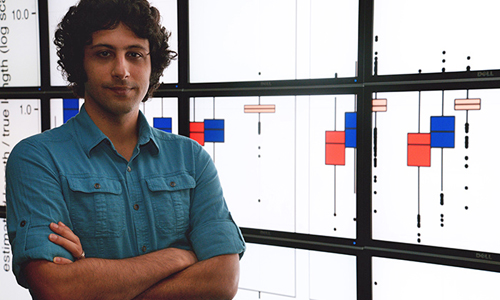 Siavash Mirarab, computer science graduate student at The University of Texas at Austin, helped develop a new technique for estimating evolutionary relationships that allowed researchers to redraw the bird family tree. Image credit: The University of Texas at Austin