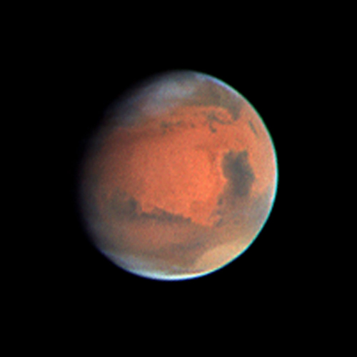 Synthetic biology could be a key to manned space exploration of Mars. (Photo courtesy of NASA)