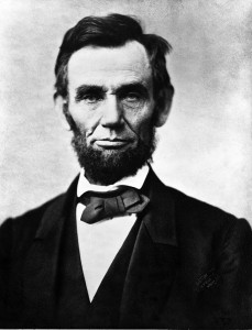 """The """"Gettysburg Portrait"""", A head-on photograph of Abraham Lincoln taken on November 8, 1863; two weeks before his Gettysburg Address. Photographer Alexander Gardner (Source: Wikimedia Commons)"""