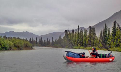 Sean Brennan gathering data in the Nushagak watershed. Image credit: Jesse Davis