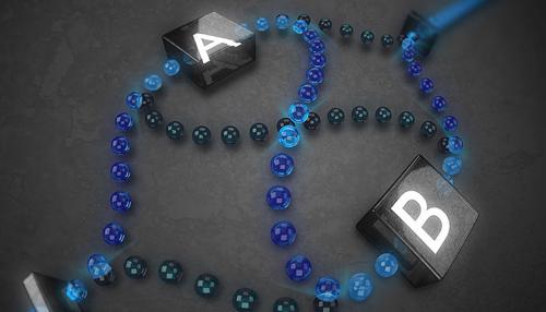 Die Quantenmechanik erlaubt nicht nur die Superposition von Quantenzuständen, sondern auch die Superposition von Quantengattern, den Grundbausteinen eines Quantencomputers. Es wurde gezeigt, dass durch die Superposition von zwei Quantengattern A und B, eine ungeordnete Quantenrechnung effizienter als eine eindeutig definierte, geordnete Quantenrechnung gelöst werden kann (Image copyright: Jonas Schmöle, Universität Wien).