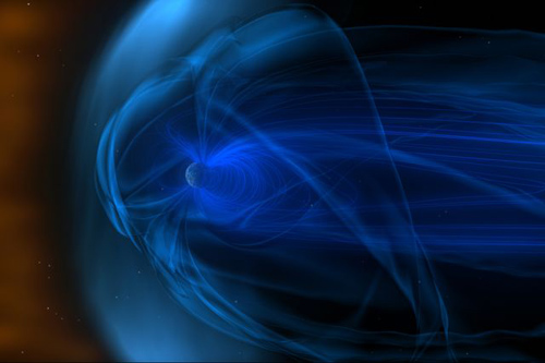 The Earth's magnetosphere is home to the plasma waves being studied by Yuri Shprits and colleagues.  Image credit: NASA