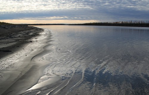 Northern Canada's Mackenzie River is the largest river flowing into the Arctic Ocean from North America—and the dominant source of biosphere-derived organic carbon in Arctic Ocean sediments, according to a new study. (Photo by Robert Hilton, Durham University)