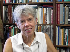 """In the late 1990s, University of Utah anthropologist Kristen Hawkes developed the """"grandmother hypothesis"""" that humans developed lifespans longer than other apes because prehistoric grandmothers helped feed their grandchildren after weaning, allowing mothers to have more children sooner and increasing the prevalence of grandma's longevity genes in the population. In a new study, Hawkes used computer simulations to suggest that grandmothering and increased human longevity led to a surplus of older, fertile men, which in turn led to the human characteristic of forming couples or pair bonds. PHOTO CREDIT: Lee J. Siegel, University of Utah"""