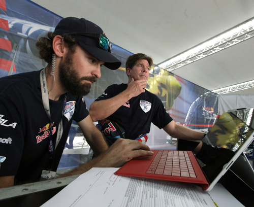 Chambliss's chief technician, Jason Resop, in foreground, says the changes they made as a result of the Microsoft collaboration will really pay off next season. Image credit: Microsoft
