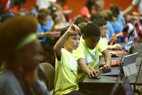 Bill Parks was among the youths from the Seattle area who learned how to code last summer at Microsoft, and now says he wants to be either a software engineer or coder. Image credit: Microsoft