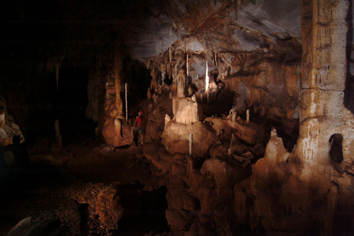 The cave room in Puerto Princesa Subterranean River National Park in Palawan, Philippines. A stalagmite collected from this location served as a record for ancient rainfall data. Photo credit: Raf Rios