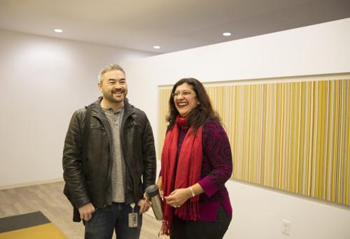 Kenji Yamaguchi and Seema Chandrasekharan on the Microsoft Redmond campus. Image credit: Microsoft