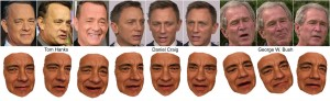 UW researchers have reconstructed 3-D models of celebrities such as Tom Hanks from large Internet photo collections. The models can be controlled by photos or videos of another person.Image credit: University of Washington. (Click image to enlarge)