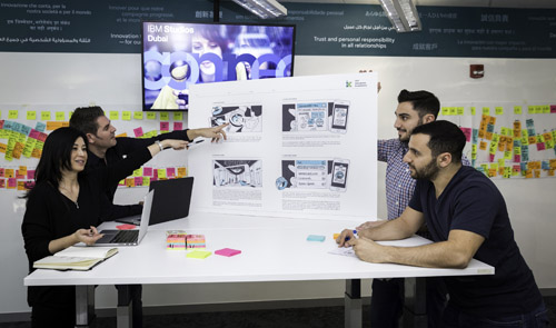 IBM designers working on MobileFirst technologies for clients (Image credit: IBM)