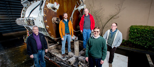 Microsoft Project Natick team: (L-R): Eric Peterson, Spencer Fowers, Norm Whitaker, Ben Cutler and Jeff Kramer (Photo by Scott Eklund/Red Box Pictures.)