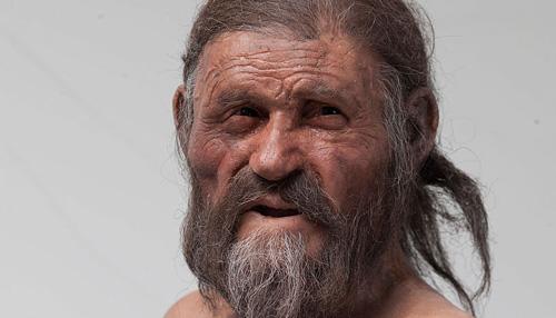 "Rekonstruktion des ""Ötzi"". Image copyright: South Tyrol Museum of Archaeology, Foto Ochsenreiter."