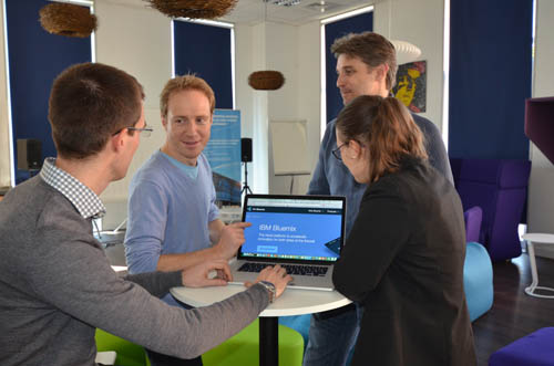 Developers collaborate in IBM's newest Bluemix Garage in Nice, France to build advanced cloud apps (Image credit: IBM).