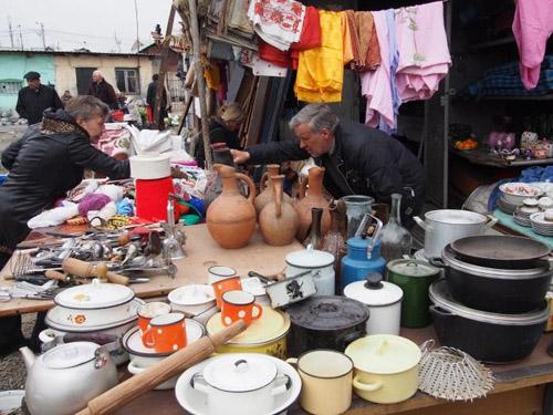 Marktstand in Tiflis, Georgien. Foto credit: Susanne Fehlings