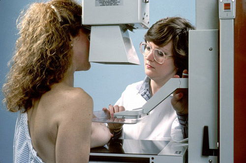 ACOG recommends annual mammograms for women of average breast cancer risk starting at age 40. Photo credit: National Cancer Institute (Source: Commons.Wikimedia)