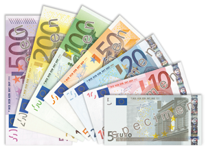 Eurobanknoten. Image credit: Blackfish (Source: Wikipedia)