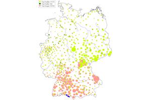 Bild Quelle: Deutscher Familiennamenatlas, Band 5, Karte 215