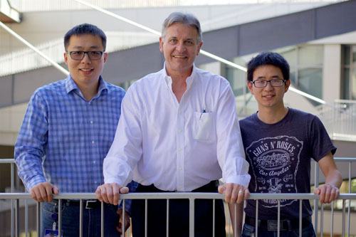 Huan Meng, Dr. Andre Nel and Xiangsheng Liu. Photo credit: Tunde Akinloye for CNSI
