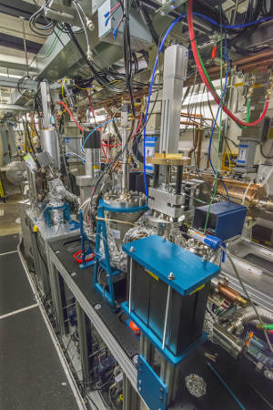 A view of the HiRES ultrafast electron diffraction (UED) beamline at Berkeley Lab's APEX. (Photo credit: Roy Kaltschmidt/Berkeley Lab)