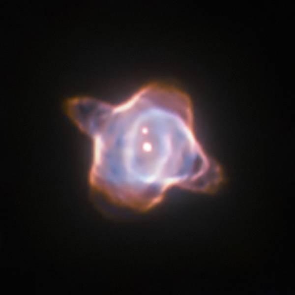 Diese Abbildung des Stingray-Nebels, einem planetarischen Nebel, der 2.700 Lichtjahre von der Erde entfernt ist, wurde 1998 mit der Wide Field and Planetary Camera 2 (WFPC2) des Hubble-Weltraumteleskops aufgenommen. Im Zentrum des Nebels befindet sich der Stern SAO 244567, der sich schnell entwickelt. Be-obachtungen aus den vergangenen 45 Jahren zeigten, dass die Oberflächentemperatur des Sterns um fast 40.000 Grad Celsius stieg. Nun ergeben neue Beobachtungen, dass der Stern SAO 244567 wieder begonnen hat abzukühlen. Bild credit: ESA/Hubble & NASA