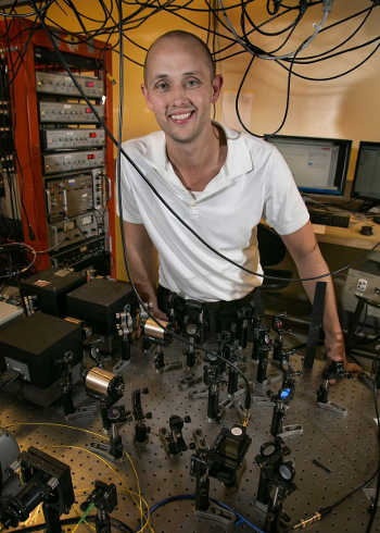 Eric Hudson, associate professor of physics at UCLA. Photo credit: Reed Hutchinson/UCLA