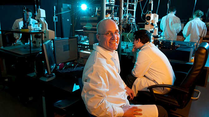 UD's Eric Furst is leading one of five projects recently selected to conduct fluid dynamics investigationsin theInternational Space Station's U.S. National Laboratory. Photo by Kathy F. Atkinson