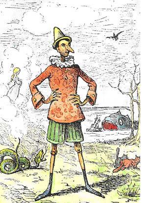 Pinocchio by Enrico Mazzanti (Source: Wikipedia)