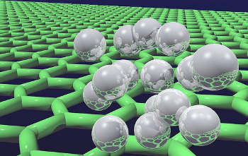 Quantum Hydrogen on Graphene (Image credit: UCL Mathematical & Physical Sciences)