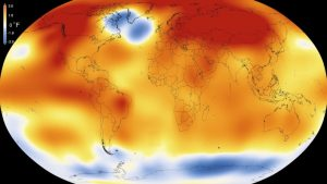2015 was the warmest year since modern record-keeping began in 1880, according to a new analysis by NASA's Goddard Institute for Space Studies. The record-breaking year continues a long-term warming trend: 15 of the 16 warmest years on record have now occurred since 2001. Image credit:  Scientific Visualization Studio/Goddard Space Flight Center (Click image to enlarge)