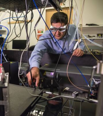 The Molecular Foundry's Edward Barnard is part of a team of scientists that developed a new way to see inside solar cells. (Image credit: Marilyn Chung)