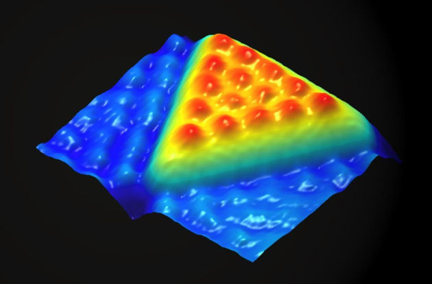 Nanoscience will make major contributions in health care, energy and many other areas, researchers say. Image credit: Charlie Sykes, Patrick Han and Paul Weiss/UCLA