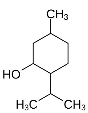 Menthol structure. Image credit: Roland Mattern (Source: Wikipedia)