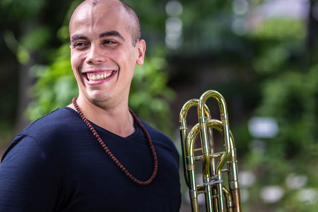 Paul Rivera is a master's student studying music performance in MSU's College of Music. Image credit: Michigan State University