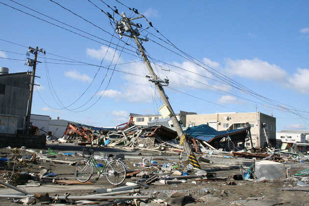 Damaged by Tsunami in Ishinomaki, Japan (Photo Source: Wikipedia)