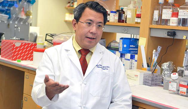Dr. Charles Dela Cruz (photo by Michael Marsland / Yale University)