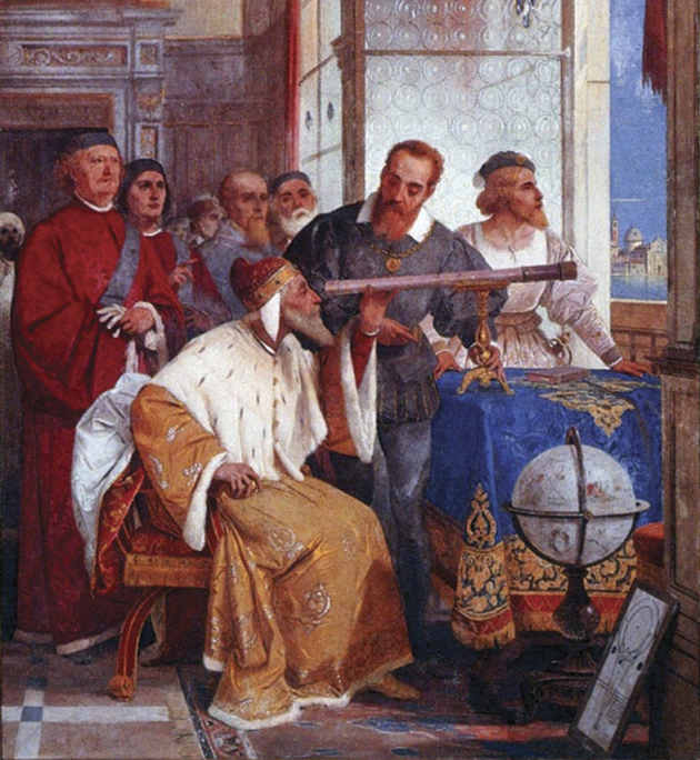 In his later years Italian astronomer Galileo Galilei insisted on the truth of the geocentric system, said UCLA professor Henry Kelly. Image credit: Giuseppe Bertini (Source: Wikipedia)