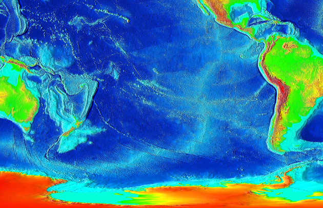 Researchers find the East Pacific Rise is dynamic as heat is transferred, showing that plate dynamics are driven significantly by additional force of heat drawn from Earth's core. Image source:  commons.wikimedia.org