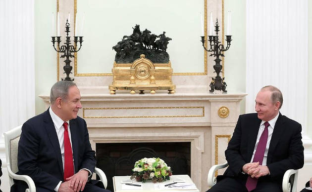 Mr Putin and Mr Netanyahu discussed the situation in the Middle East, in particular in Syria, in the context of joint efforts to combat international terrorism, and examined the main areas of bilateral cooperation. Photo credit: Kremlin.ru