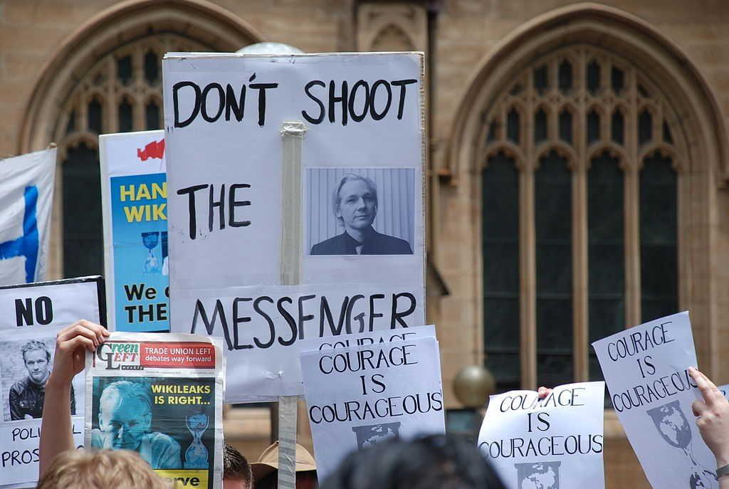 Free Julian Assange. Photo credit: Elekhh (Source: Wikipedia)