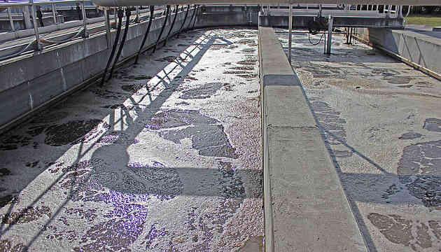Kläranlage Klosterneuburg. In diesem unscheinbaren Becken zur Abwasserreinigung verbergen sich riesige Viren mit ungewöhnlichen, völlig unerwarteten Eigenschaften (Image copyright: Universität Wien).