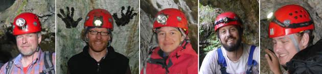 Das D-A-CH-Team Innsbruck 2015/16. Von links: Gert Goldenberg, Markus Staudt, Caroline Grutsch, Manuel Scherer-Windisch und Roman Lamprecht. (Bild credit: Institut für Archäologien)