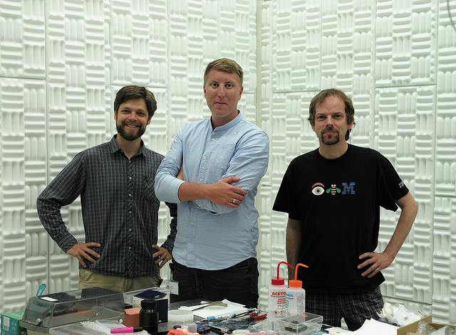 IBM Scientists - Quantum Anomaly Paper. IBM scientists and authors of the paper (left to right) , Fabian Menges, Johannes Gooth and Bernd Gotsmann. Image credit: IBM Research